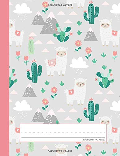 Baby Llama Cactus - Primary Story Journal: Picture Space and Dotted Midline  Grades K-2 School Exercise Book  100 Story Pages - Gray (Cute Alpaca Notebooks For Girls) PDF