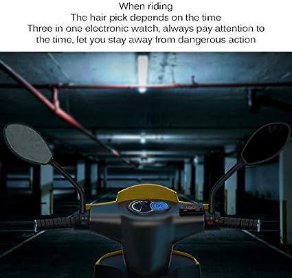 3 in 1 Voltmeter Uhr Thermometer Anzeige FORNORM 12 V Digital Led-anzeige Meter Gauge Panel Meter F/ür Auto Motorrad