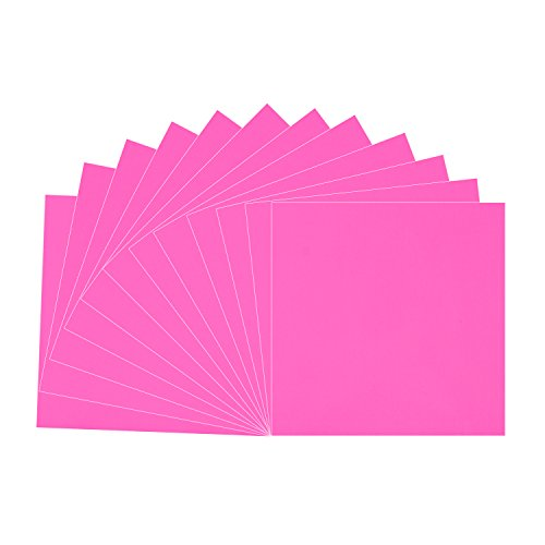 Hot Pink Glossy Vinyl Sheets - 12 Pack 12