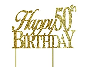 Amazon.com: All About Details Gold Happy-50th-birthday