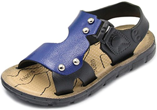 ppxid-boys-open-toe-rivet-buckle-outdoor-casual-sandbeach-sandals-blue-65-us-size