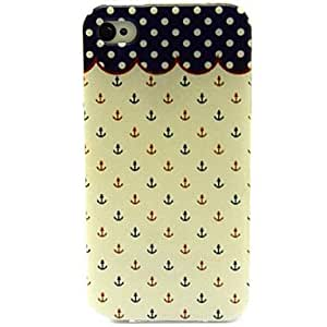 YULIN Red And Blue Small Rivets Pattern TPU Soft Case for iPhone 4/4S