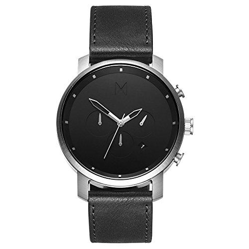 (MVMT Chrono Watches | 45 MM Men's Analog Watch Chronograph | Black Silver )