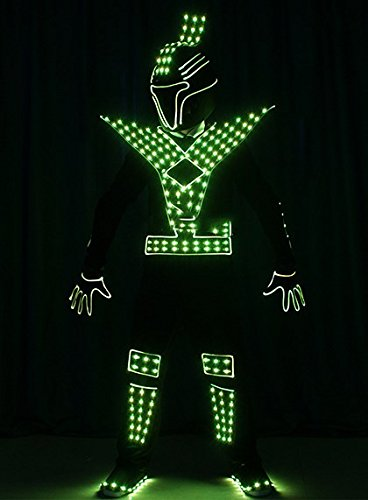 Tron Dance Costume (Jomax LED Light Fiber Optic Tron dance Costumes)