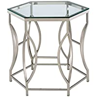 HOMES: Inside + Out Iohomes Marilyn Geometric Chrome Frame End Table