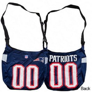 New England Patriots NFL Veteran 00 Jersey Messenger Purse Tote Bag Littlearth (Veteran Jersey Tote Bag)