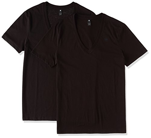 G-Star Raw Ss 2 Solid Camiseta para Hombre, color Negro, S