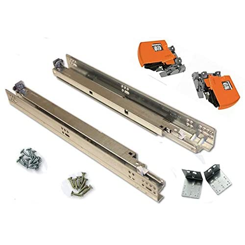 Image of Bundle - BLUM TANDEM Drawer Slides with BLUMOTION. Includes Slides 563H, Locking Devices, Rear Mounting Brackets, Screws and Instructions. 21' (Set of 6) Home Improvements