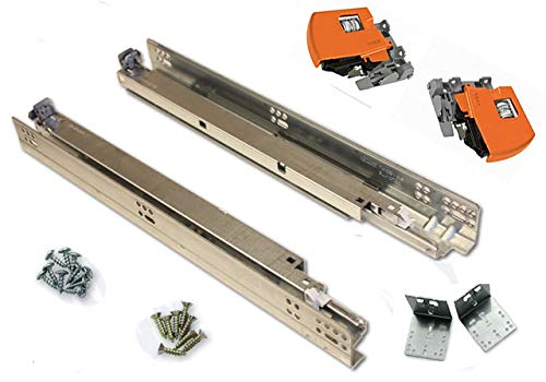 Bundle - BLUM TANDEM Drawer Slides with BLUMOTION. Includes Slides 563H, Locking Devices, Rear Mounting Brackets, Screws and Instructions. 21'' (Set of 6) by Blum (Image #1)