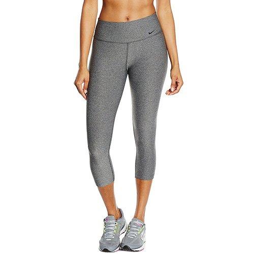 New Nike Women's Legend 2.0 Tight Poly Capri Charcoal Heather/Black Small