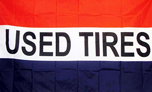 Used Tires & Tire Sale Flags  3' X 5' Indoor Outdoor Busines