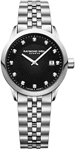 Raymond Weil 'Freelancer Ladies' Quartz Stainless Steel Casual Watch, Color:Silver-Toned (Model: 5629-ST-20081)