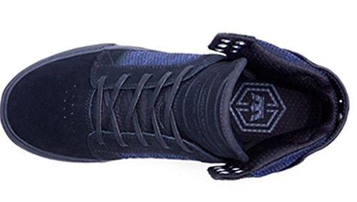 Supra Hommes Skytop Noir / Bleu Bruyère / Noir Sneaker Hommes 10.5, Femmes 12 D (m)