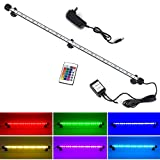 "LED Aquarium Light, Smiful Submersible Fish Tank Light Colorful Remote Control Waterproof Crystal Glass LEDs Lights Bar (23""-Colorful)"