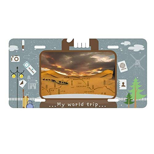 - DIYthinker Map Desert Along The Way to The Silk Road License Plate Car Decoration Tin Sign Travel