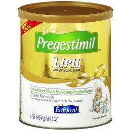 Pregestimil LIPIL Infant Formula-Flavor Unflavored Calories 20 / fl oz Style Powder Packaging 1 lb (454 g) Can - Each 1
