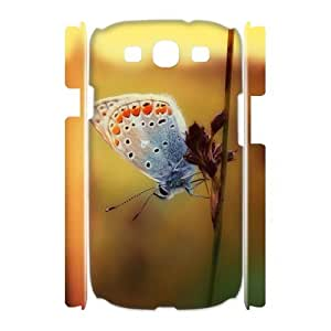 3D [Butterfly Series] Samsung Galaxy S3 Case Dreamy Butterfly, Samsung Galaxy S3 Case Luxury Evekiss - White