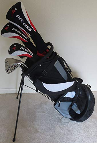 - Mens Golf Set Complete Titanium Clubs & Bag Driver, Fairway Wood, Hybrid, Irons, Putter Right Handed