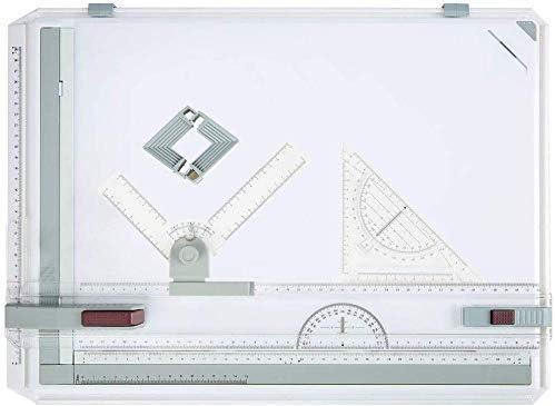 Jackbobo A3 Zeichenbrett Zeichenplatte einfache Zeichenplatte für das Professionell Office Arbeiten Studenten Studium 49 x 35,5 x 1,3 cm (Weiß - Typ2)