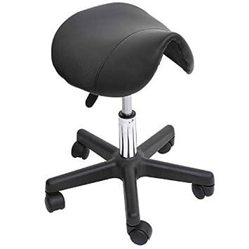 HomCom Adjustable Swivel Salon Massage Spa Seat Tattoo Chair Saddle Stool - Black  sc 1 st  Amazon.com & Amazon.com: HomCom Adjustable Swivel Salon Massage Spa Seat Tattoo ... islam-shia.org