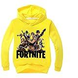 nikifly Fortnite Hoodie Kids Hoodies Children Sweatshirts Pj Masks Clothes Coat Kids Coat Shirt Battle,Yellow,8