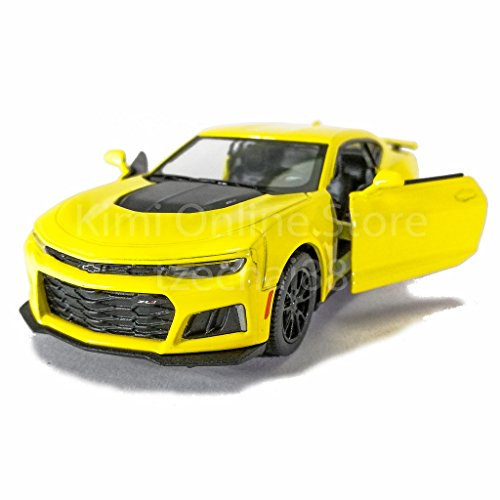 Kinsmart 1:38 Die-cast 2017 Camaro ZL1 Car Yellow Color Model Collection New Gift