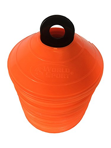(World Sport 100 Orange Disc Cone Set with Carrier)