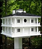 Home Bazaar HOMEHB2048 1-1/4 Opening 10-1/2'' x 12'' x 12'' Clubhouse Bird House