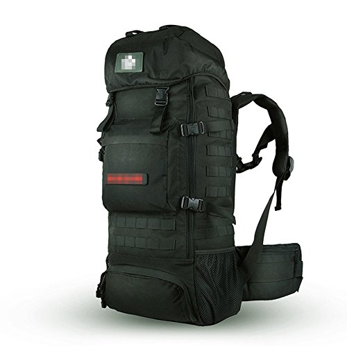 Walking Bag Backpack Black Outdoor 70L Mountaineering wxqtR8x1