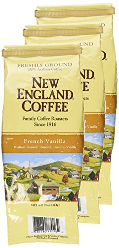 New England Coffee French Vanilla, Ground, 11-ounce Bags (Pack of -