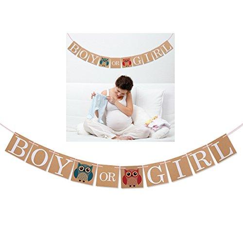 PIXNOR Gender Reveal Shower Decorations