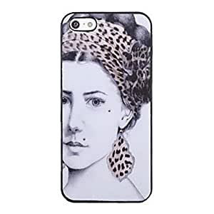 DUR Beautiful Woman Pattern Back Case for iPhone 5/5S