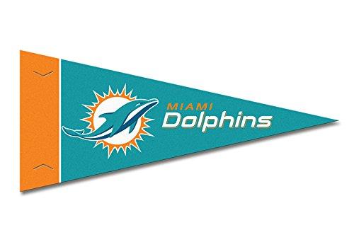 Dolphins Felt Pennant Miami (Rico Miami Dolphins NFL Mini Pennant 9x4 inch)