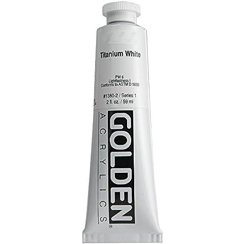 Golden Heavy Body Acrylic Paint, 2-Ounce, Titanium White (Acrylic Golden Paint)