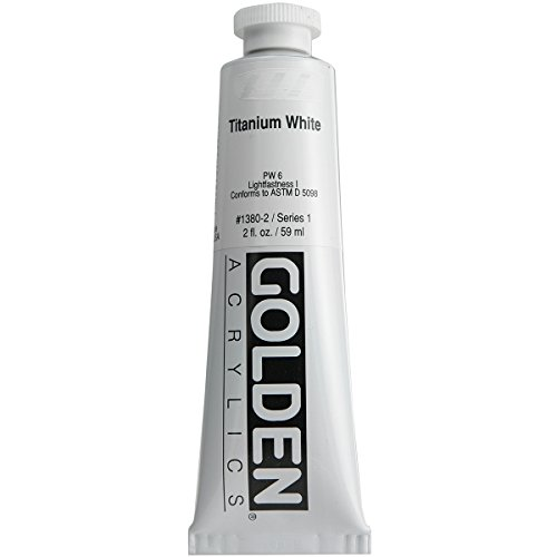 Golden Acrylic Paints - Golden GLDNHB-13802 Heavy Body Acrylic Paint, 2-Ounce, Titanium White