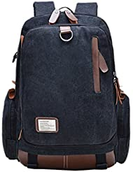 Bronze Times (TM) Casual Canvas Travel School Laptop Backpack Rucksack Bookbag