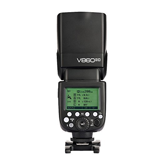 Godox V860II-C Pioneering 2.4G Wireless E-TTL II Li-on Camera Flash Speedlite for Canon 6D 50D 60D 1DX 580EX II 5D Mark II III (V860II-C)