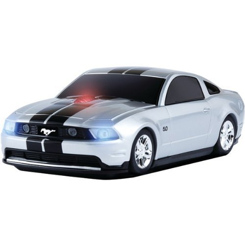 Road Mice Ford Mustang Wireless Mouse - Silver/Black (HP-11FDMGSXK)