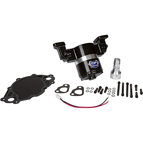 Ford Big Block Electric Water Pump - 35 GPM, Black Aluminum, 429 - 460 CVF Racing