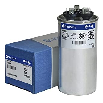 Capacitor 18 UF 450vac with Faston departure engine washer 12ag011