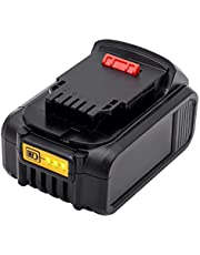 Vinso for Dewalt 5.0Ah 20V Li-ion Replacement Battery for Dewalt DCB184 DCB184B-XJ DCB183 DCB183-XJ DCB182 DCB182-XJ DCB181 DCB181-XJ DCB185-XE DCB200 DCB201 MAX XR Battery with LED Charge Indicator