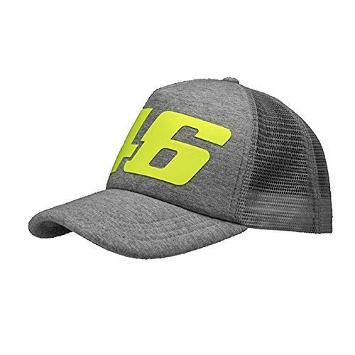 Valentino Rossi 46 MotoGP Core Collection Large 46 Design Trucker Cap -  Grey  Amazon.co.uk  Clothing 25a6a9c49b8