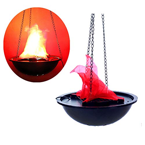 Hanging Flame Light Great Halloween Decoration, LED Fake Fire Flame Simulated Flame Effect Light 3D Campfire Centerpiece for Christmas Party Festival Night Clubs Atmosphere (Hanging Flame -