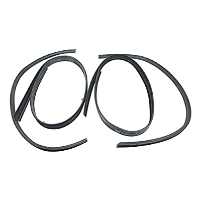 10 Piece Rubber Door Window Weatherstrip Seal Kit for 80-93 Dodge Truck D W 150: Automotive