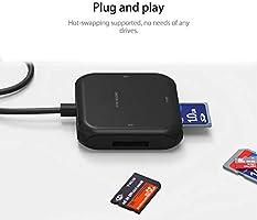 Amazon.com: SD Card Reader, USB 3.0 Adapter Hub Read 4 Cards ...