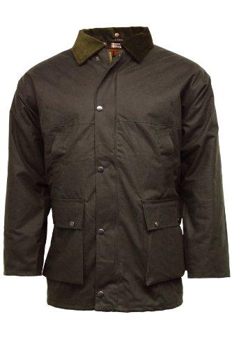 Veste Imperméable Apparel En Matelassée Coton Marron Ciré G5 aqAf5A