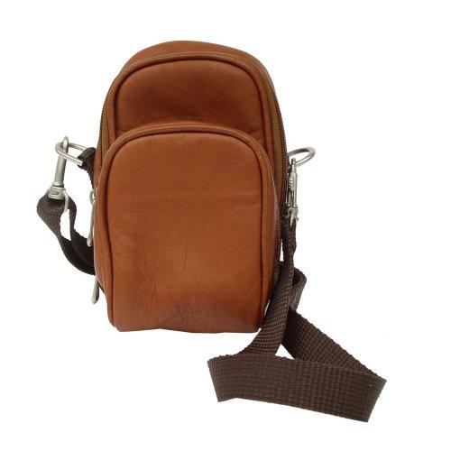 Piel Leather Camera Bag, Saddle, One Size