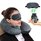 Inflatable Travel Pillow Best 360 Degree Neck Support Pillow Portable Planes U Shaped