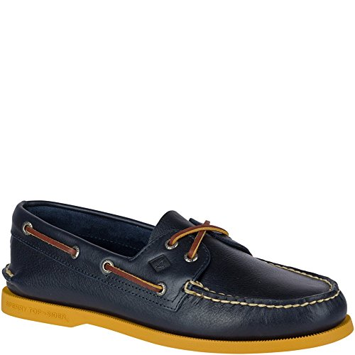 Blue Leather Boat (Sperry Top-Sider Authentic Original 2-Eye Color Pop Boat Shoe)