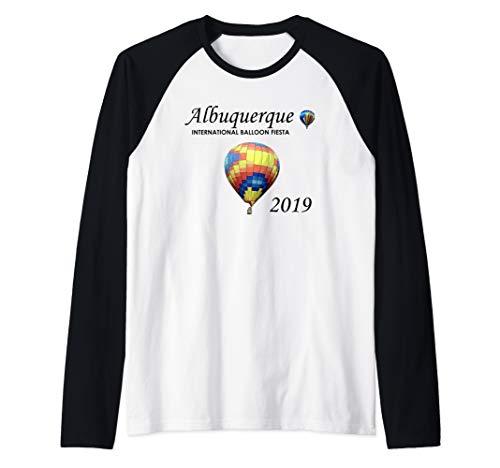 Albuquerque Hot Air Balloon Fiesta 2019 Festival Raglan Baseball Tee